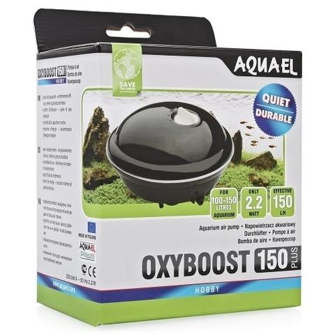 AQUAEL Компрессор OXYBOOST 150 plus (100-150л) с регулятором производительности, 150л/ч, Потр.мощн.-