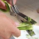 Ножницы с 5 острыми лезвиями из нержавеющей стали быстро и красиво ...