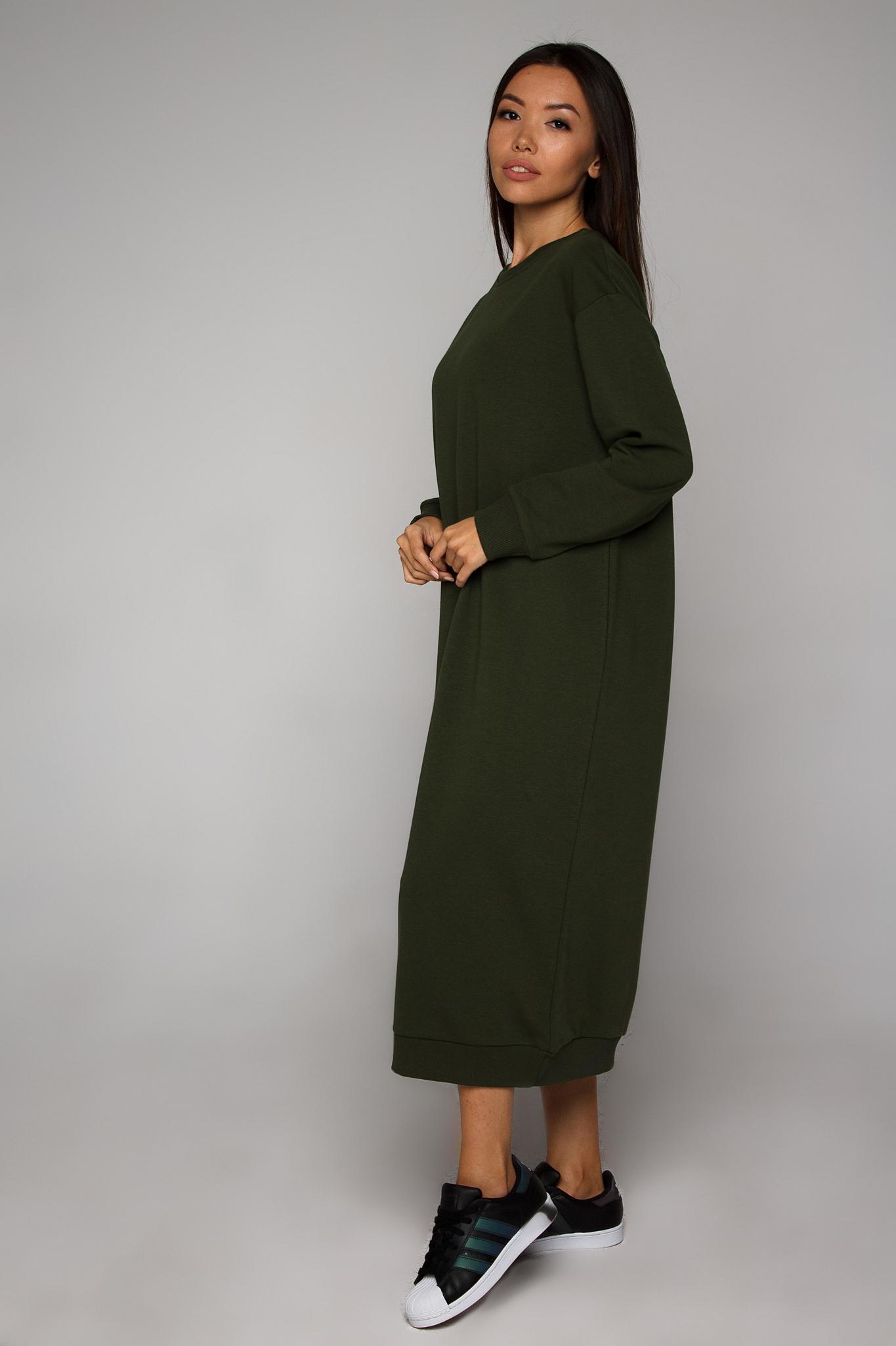 Платье-свитшот хаки YOS