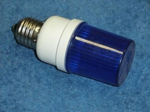 Строб лампа синяя Е27