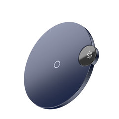 Беспроводное зарядное устройство Baseus Digtal LED Display Wireless Charger Blue