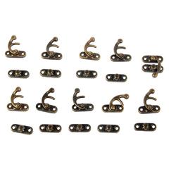 Замочек металлический для шкатулок и альбомов, 10 шт, 2,4х2,2х0,5 см