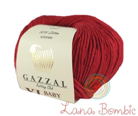 Пряжа Gazzal Baby Cotton XL красный 3439