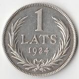 K5466, 1924, Латвия, 1 лат Ag-835, 5 gr.
