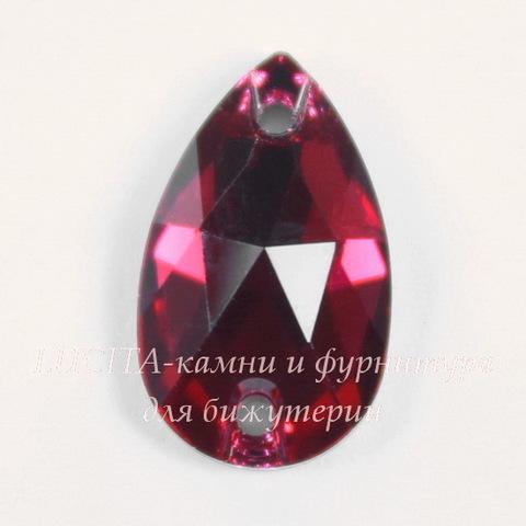 3230 Пришивные стразы Сваровски капля Scarlet (12х7 мм)