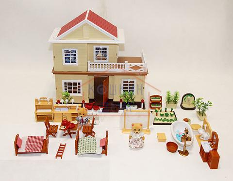 Дачный домик Anbeiya family  с полным набором мебели и парочкой мишек