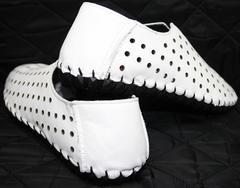 Красивые модные туфли летние мужские Luciano Bellini 107704 White.