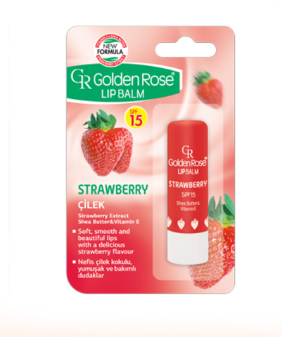 GR Бальзам для губ Lipbalm STRAWBERRY SPF15