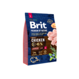 Brit Premium by Nature Junior L Сухой корм для молодых собак, крупных пород, с курицей 3 кг. (526420)