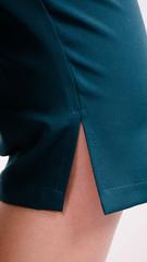Лето. Стильный костюм плюс сайз. Цветый+изумруд.