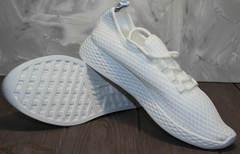 Текстиль кроссовки женские Small Swan NB283-2 All White.