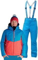 Утеплённый прогулочный лыжный костюм Nordski Montana Blue-Red National мужской