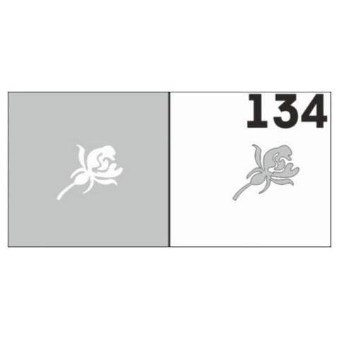 Трафарет для ногтей 6 шт. /1 уп. №134