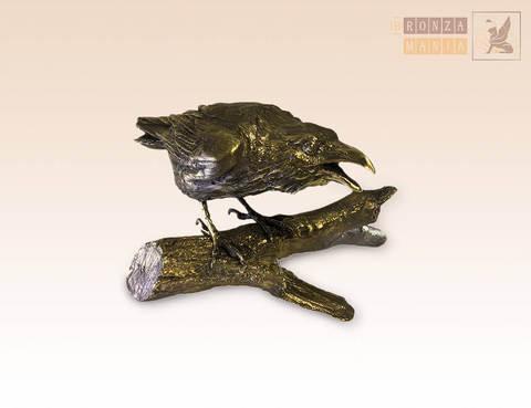 статуэтка Ворона на ветке