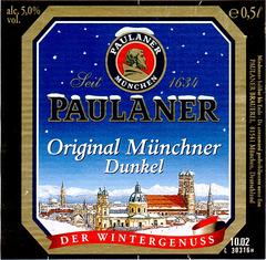Пиво Paulaner Original Munchner Dunkel