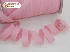 Резинка бейка трикотажная розовая 16 мм