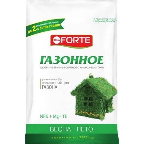 Bona Forte удобрение комплексное гранулированное с микроэлементами Газонное весна-лето 5кг