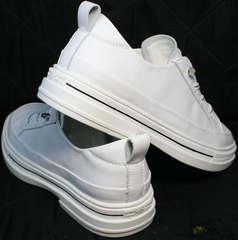 Удобные женские туфли кроссовки для повседневной жизни El Passo sy9002-2 Sport White.