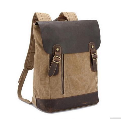 Рюкзак из кожи и хлопка BUG 388