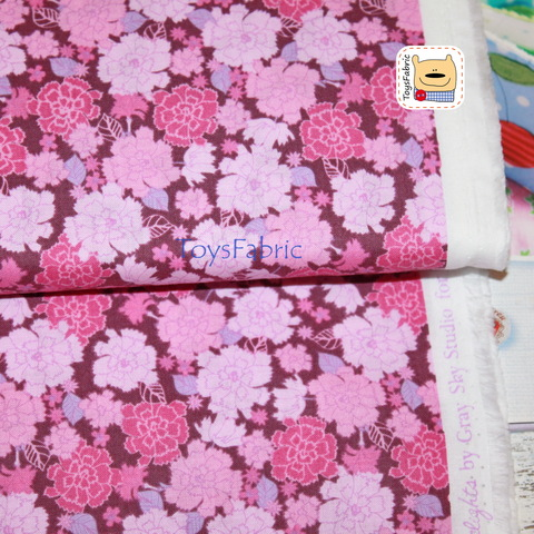 Ткань для пэчворка 20795 (розовые гвоздики) 45х55см