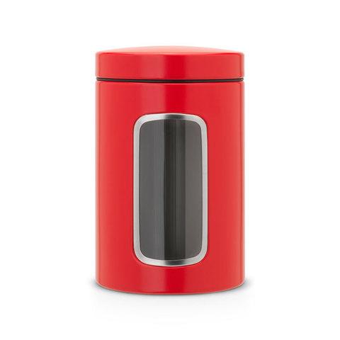 Контейнер для сыпучих продуктов с окном (1,4 л), Пламенно-красный, арт. 484063 - фото 1