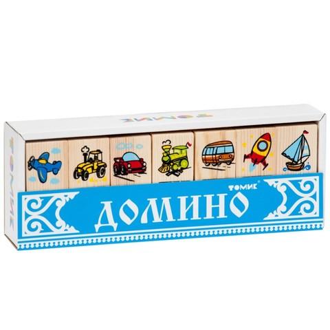 Деревянное домино Транспорт, Томик, арт. 5555-2