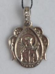 Именная Икона - Екатерина (кулон с барельефом из серебра)