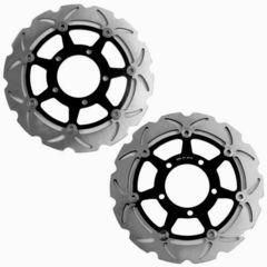 Тормозные диски передние для мотоцикла (2шт) для Kawasaki ZX-6R 03-04