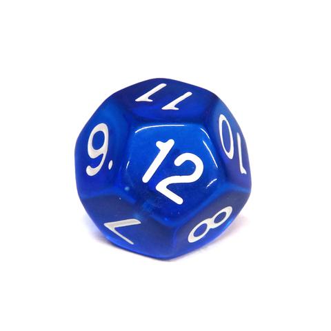 Куб D12 прозрачный: Синий