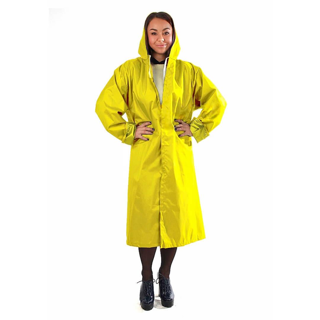 Дождевик тканевый унисекс желтый