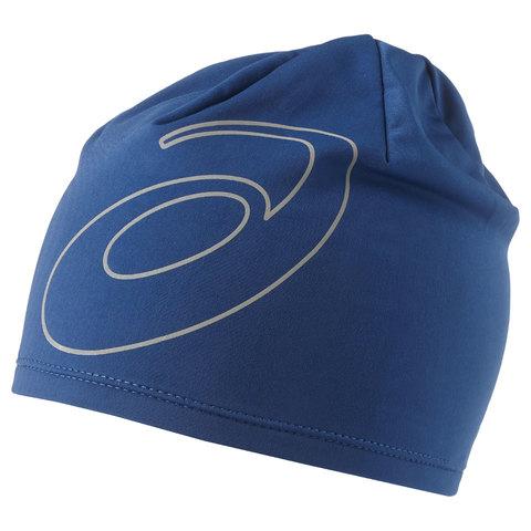 ASICS LOGO BEANIE шапка для бега синяя