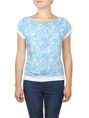 B144-1z блузка женская, голубая