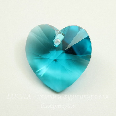 6202/6228 Подвеска Сваровски Сердечко Blue Zircon (18х17,5 мм)