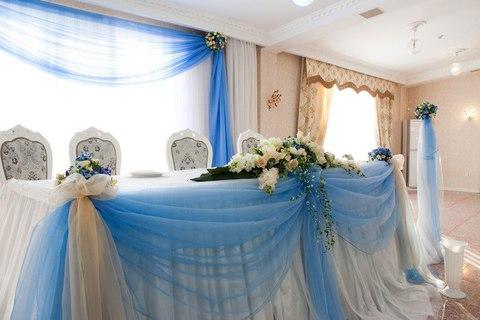 р. Минари. (ул. Розыбакиева Утепова) зал на 2м этаже, оформление в голубом цвете 45 тыс тг