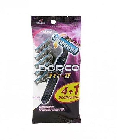 Dorco TG-711 Одноразовые станки для бритья с 2 лезвиями 5шт. (4+1 в Подарок)