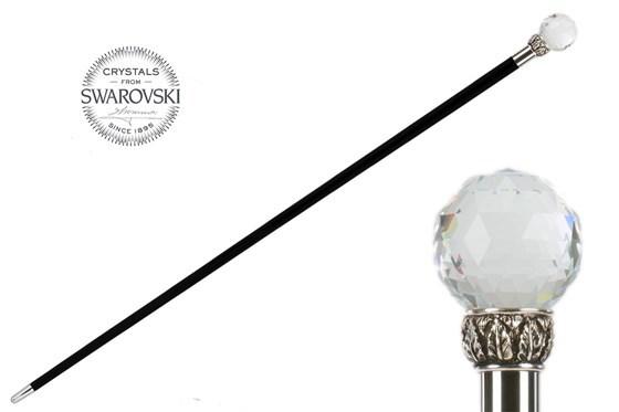 Трость мужская Pasotti Swarovski® Crystal Ball Cane, Италия.