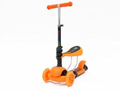 Детский самокат-беговел 3 в 1 оранжевый