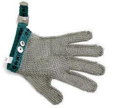 Фото: Перчатка кольчужная 5 пал ( XS зеленая)