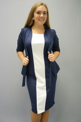 Глория норма. Женские костюмы. СинийБелый.