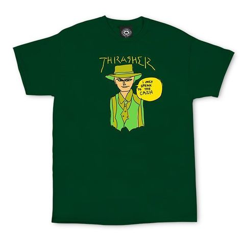 Футболка THRASHER Gonz Cash (Forest Green)