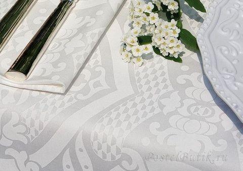 Скатерть 170x230 и 8 салфеток Mirabello Umbria белый