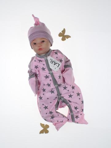 Комбинезон Звездопад + шапочка (розовый)