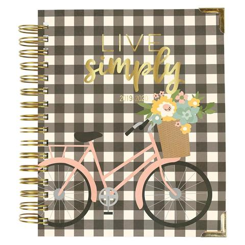 Ежедневник на пружине-  Carpe Diem Spiral 17-Month Dated Weekly Planner - 18х22 см -Live Simply