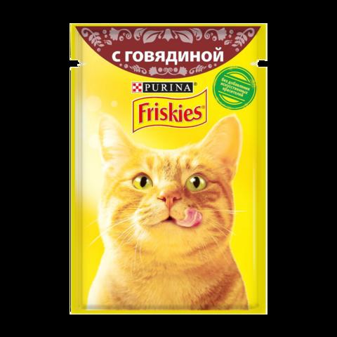 Friskies Консервы для кошек с Говядиной в подливе (Пауч)