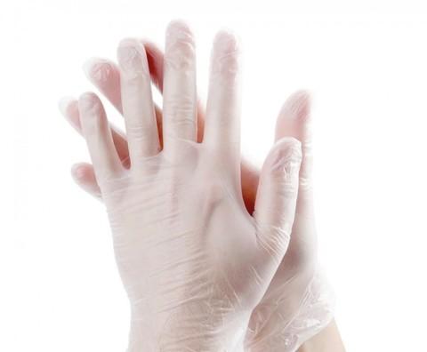 Перчатки виниловые 50 пар (100 штук) (размер L)