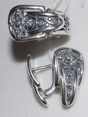 Ремень (кольцо + серьги из серебра)