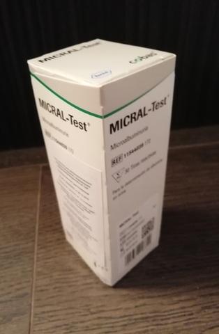 11544039172 Micral Test 30 Микраль тест Тест-полоски для иммунологического полуколичественного определения микроальбуминурии Micral-Test (Микраль-тест) Roche Diagnostics GmbH, Германия