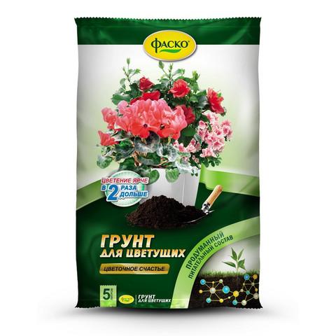 Грунт Цветочное счастье для цветущих 5л Фаско