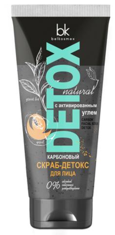 BelKosmex Detox natural Карбоновый скраб-детокс для лица Эффект полировки кожи 80г