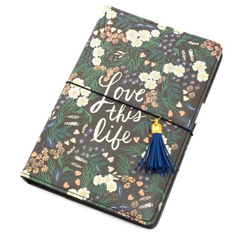 Блокнот (тревелбук) - American Crafts Journal Studio Kit  - 14х22 см -  Love This Life By Crate Paper